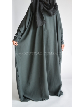 Abaya saoudienne - microfibre opaque - Gris