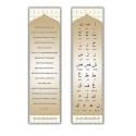 Lot de 10 - Marque page recto verso alphabet hourouf hadith