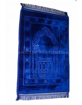 Tapis de prière molletoné - Bleu