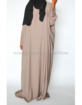 Abaya saoudienne - microfibre opaque - Taupe