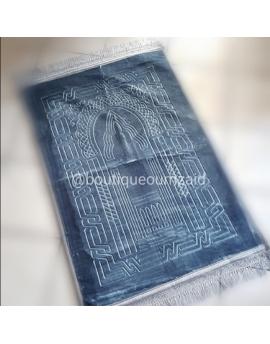 Tapis de prière molletoné - Gris argenté