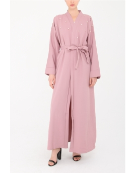 Kimono basique perlé - Rose