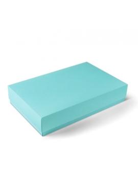 Boîte cadeau réctangulaire turquoise