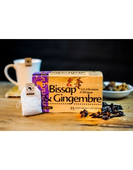 Racine - Infusion Bissap & gingembre, 25 sachets.