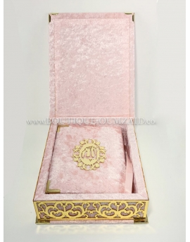 Coffret Coran Velours en Arabe