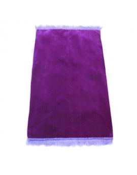 Tapis de prière musulman ultra-doux - Couleur unie violet