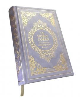 Le noble Coran Français / Arabe - Mauve et Or