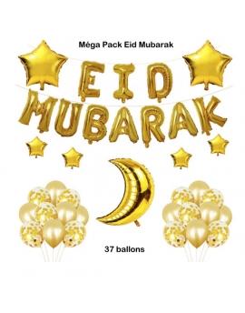 Mega Pack Eid Mubarak 37 ballons