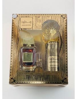 Coffret parfum dubaï - Khashab & oud gold edition